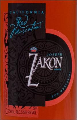 Joseph Zakon Late Harvest Red Riesling